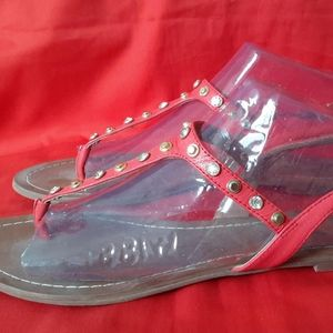 Halogen Red Sandals with Studs Size 9